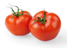 Two red tomatoes Royalty Free Stock Photography