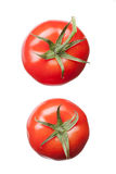 Two red tomatoes isolated on white Stock Image