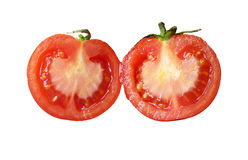Two red tomatoes. On a white backgroundnn royalty free stock images