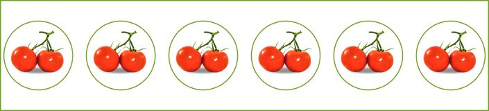 Two of red tomatos in some bubbles Stock Image