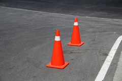 Two red traffic cones Stock Photography