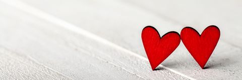 Red Hearts In Love royalty free stock photography