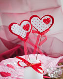 Two red valentines Royalty Free Stock Photo