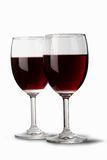 Two red wine glasses Stock Photography