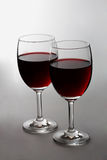 Two red wine glasses Royalty Free Stock Image