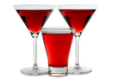 Two red wine of glasses Stock Image