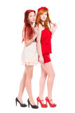 Two redhead women royalty free stock photography