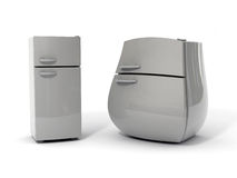 Two refrigerators Royalty Free Stock Image
