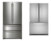 Two refrigerators isolated Stock Photo
