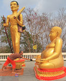 Two religious statues on the hill in Pattaya. Thailand royalty free stock photos