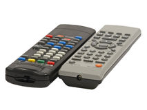 Two remote control. Stock Images