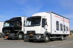 Two Renault Range D Trucks Stock Photography