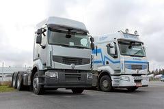 Two Renault 460 Trucks stock photo