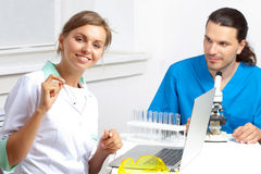 Two researchers Stock Image