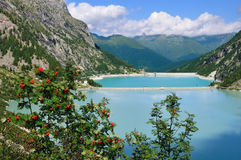 Two reservoirs in an alpine valley (laghi d'Avio) Stock Photography