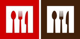 Two restaurant signs stock illustration