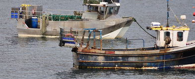 Fishing boats detail. Two resting fishing boats in detail Royalty Free Stock Photography