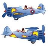 Two retro airplanes Royalty Free Stock Photos