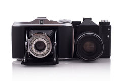 Two retro cameras Royalty Free Stock Image
