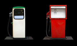 Two retro gas stations. Royalty Free Stock Photography
