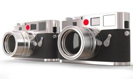 Two retro looking photo cameras Stock Photo