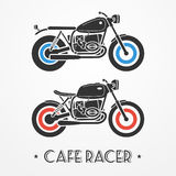 Two retro motorcycles Royalty Free Stock Photo