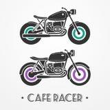 Two retro motorcycles Stock Photo