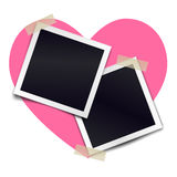 Two retro photorealistic photo frame sticked on duct tape Royalty Free Stock Images