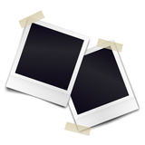 Two retro photorealistic photo frame sticked on duct tape Stock Photography