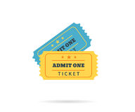 Two retro tickets Stock Photos