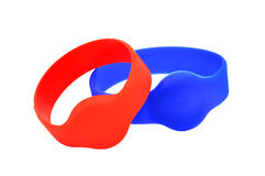 Two RFID bracelet Stock Photography