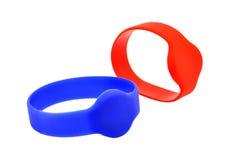 Two RFID bracelet Stock Images