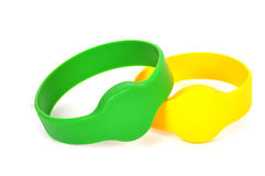 Two rfid bracelet Royalty Free Stock Photo