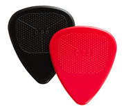 Two ribbed guitar plectrums Stock Photo