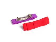 Two ribbons Hair-pin Royalty Free Stock Photo
