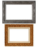 Two Rich Frame. Vintage picture frame, isolated image, white background Stock Photography