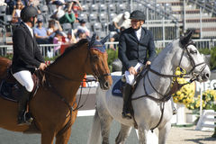 Two riders. CSIO Barcelona. Stock Photo