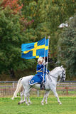 Two riders from the mounted guard entering the arena Royalty Free Stock Photos