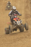 Two riders in a quad race. Vertically. Stock Photo