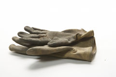Two right gloves palm up from side Stock Photography