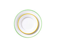 Two rimmed plates Royalty Free Stock Photo