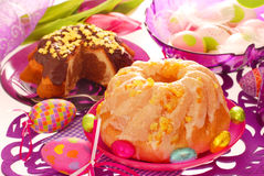 Two ring cakes for easter Royalty Free Stock Image
