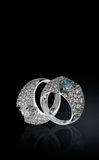 Two rings with brilliants Royalty Free Stock Image