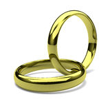 Two Rings Chain Royalty Free Stock Photos