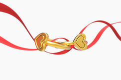 Two rings and a ribbon Stock Photography