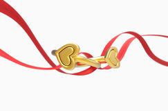 Two rings and a ribbon Royalty Free Stock Images