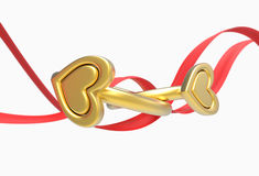 Two rings and a ribbon Stock Photo
