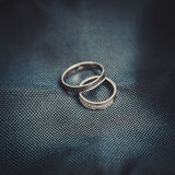 Two rings of white gold Royalty Free Stock Photo