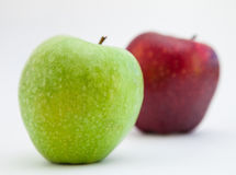 Two ripe apples. On white background Stock Images