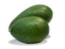 Two ripe avocado fruit Stock Images